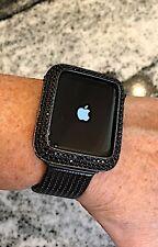 42mm Black on Black Lab Diamond Apple Watch Bezel case cover IPhone  2/3