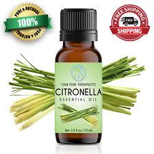 Citronella Essential Oil 10 ml 100% Pure & Natural Therapeutic Grade