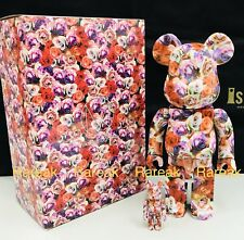 Medicom Be@rbrick 2017 Mika Ninagawa 400% + 100% Rose Flower bearbrick 2pcs
