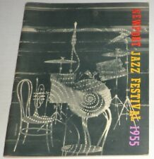 NEWPORT JAZZ FESTIVAL PROGRAM in VERY GOOD CONDITION / 1955
