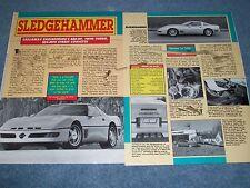 "1988 Corvette Callaway Twin-Turbo Vintage Article ""Sledgehammer"""