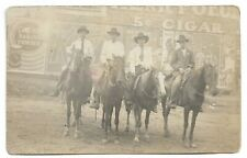 RPPC Cowboys In Front Of Great Advertisements 1910s Lipstick Kiss