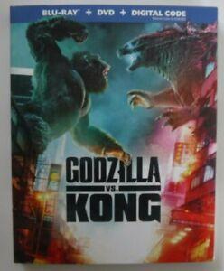 Godzilla Vs. Kong (Blu-ray + DVD + Digital + Slipcover, New & Sealed)