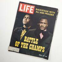 Muhammad Ali Joe Frazier battle of the chance wife magazine March 5th 1971