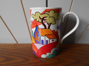 FANTASIA - COTTAGE AND TREES beautiful stoneware mug DUNOON Jane Brookshaw