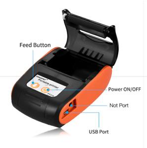 Pos Mini Mobile Thermal Receipt Printer Pocket Wireless Printer Bluetooth+Gift
