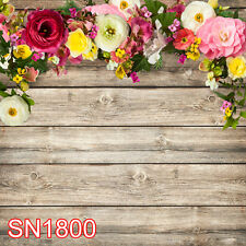 Spring Flower Wood Texture 10x10 FT PHOTO SCENIC BACKGROUND BACKDROP SN1800