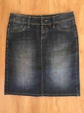 Ladies  ESPRIT Dark Blue Denim Skirt Size Small 8-10 Mini Faded