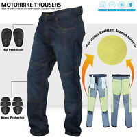 Motorbike Motorcycle Armoured Trouser Pants Jeans Reinforced With Aramid Fibers