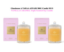 25%OFF Glasshouse Tahaa Affair 2x380g Soy Candle Vanilla Caramel Triple Scented
