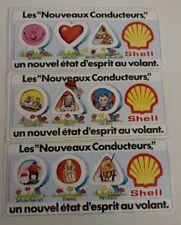 3 Autocollants Shell    / Vintage année 80