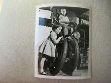 1962 Goodyear Car Tire Photo News Stock Photo 8x10 Two Kids