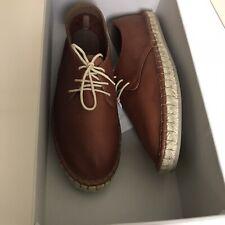 Brunello Cucinelli Men's New $900 Leather Espadrilles Shoes size 43 - 10