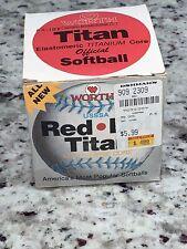 Vintage Early 90s Worth Red Dot Titan Official Softball Elastomeric Titanium New