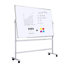 """Double-sided Magnetic Whiteboard with Stand/Come with Magnets and Markers/36x24"""""""