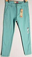 NEW! Levi's XX Chino Standard Taper Stretch Aqua Green Men Pants W29XL32