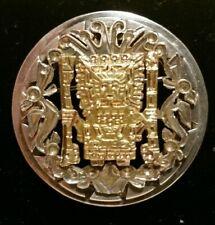 Inti Sun God Pin Peruvian Silver And 18k Inca