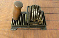 Steam Ruffle Iron Crimper Pleater Fluter 1800's AMERICAN MACHINERY Vintage RC10