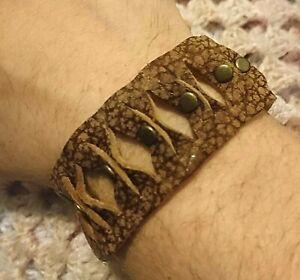 Genuine Leather Bracelet. Unisex. Navajo. Native. Medieval. Gothic. Hipster.