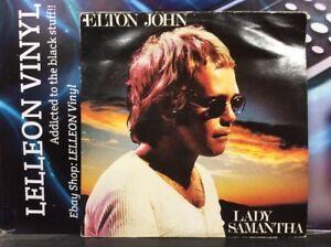 Elton John Lady Samantha LP Album Vinyl DJM22085 A1/B1 'STRAWBERRY' Pop 80's