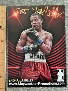 "BOXING LADARIUS MILLER PERSONAL AUTOGRAPH LARGE 7"" X 5"" FULL COLOR TRADING CARD"