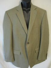 Stafford Essentials Polyester Beige Herringbone 42L 2 Button Sports Coat