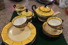 Rare Estate Find Vintage 15 Pcs. H&C Schlaggenwald Tea Set Czechoslovakia