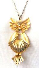 Torino Owl Pendant Necklace Vintage Figural