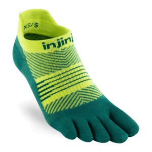 Injinji Womens RUN Lightweight No-Show Running Toe Socks (Nessie)
