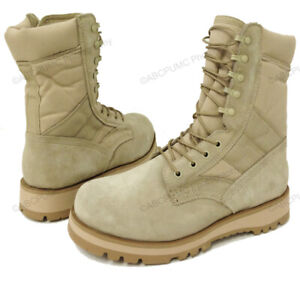 """Brand New Men's Desert Boots GI Type Tan 10"""" Tactical Combat Military Shoes"""