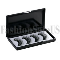 4pcs Mink Hair 3D Natural Magnetic False Eyelashes Reusable Makeup Eye Lashes