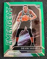 2020/21 Devin Vassell Prizm Emergent Green Prizm Rookie Spurs Rc