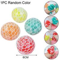 5cm Squishy Mesh sensory stress reliever ball toy autism squeeze anxiety  New
