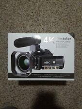 Ansteker Hdv-Ac3 4K Uhd Infrared Night Vision Camcorder w/ Original Accessories