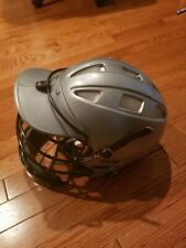 Cascade Silver / Gray Lacrosse Lax Helmet Size M Medium Regular