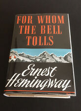 "1940 FOR WHOM THE BELL TOLLS by Ernest Hemingway ""A"" 1st Edition 1st Print w/DJ"