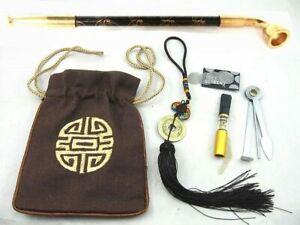 Japanese Samurai Kiseru Tobacco Smoking Pipe SET EDO Style Brand new