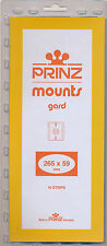 Prinz Scott Stamp Mount 59/265 BLACK Background Pack of 10