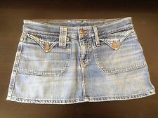 67e6c9aa7 H & M DIVIDED Distressed Destroy Denim Front Flap Pockets Mini Jean Skirt  ...