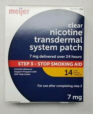 Meijer Clear Nicotine Patch Transdermal System 7mg 14 CT EXP 11/2022 Step 3