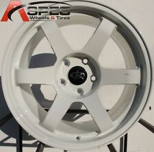 17X9 ROTA GRID 5X100 +42 WHITE WHEEL FITS LEGACY STI TC WRX MATRIX CELICA