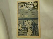 "Antique Faultless Starch Booklet  ""The House That Jack Built"", vol 20, 16 pages"