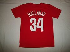 Philadelphia Phillies # 34 Roy Halladay Youth Sport T Shirt - Size M