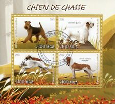 Madagascar 2015 Cto Hunting Dogs Welsh Terrier Barzoi 4v M/S Dog Stamps