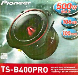 "Pioneer TS-B400PRO Pro Series Audio 500 Watt 4"" Bullet Car Tweeter Brand New"