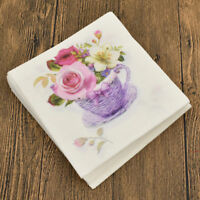 20 Pcs Print Flower Napkin Basket Multicolor Table Festival Celebration Paper