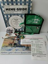 Harbour Lights Collector's Reunion 2005 Mackinac Island Pouch, Pins Pens &+ Lot
