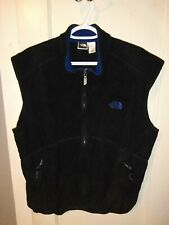 The North Face Polartec Full Zip Fleece Vest Mens Size Large Front Pockets Black
