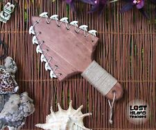 Medium Hawaiian War Axe Style Shark Tooth Lei-O-Mano Tiki Lounge Tropical Decor