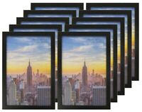 Frame Amo Black Wood Picture Frames or Poster Frames, 1 inch Wide, Smooth Wrap
